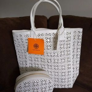 Tory Burch: Tote and cosmetic bag